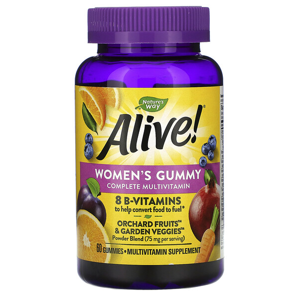 Nature's Way, Alive! Women's Gummy Complete Multivitamin, Mixed Berry Flavor, 60 Gummies