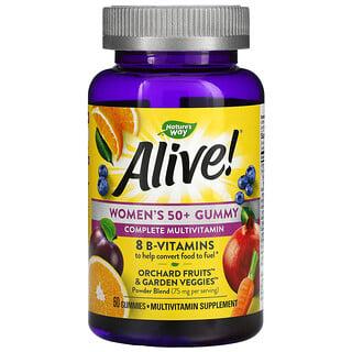 Nature's Way, Alive! Women's 50+ Gummy Complete Multivitamin, Mixed Berry, 60 Gummies