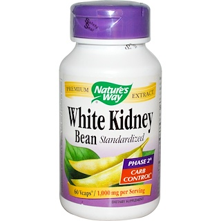 Nature's Way, White Kidney Bean Standardized, 60 Veggie Caps