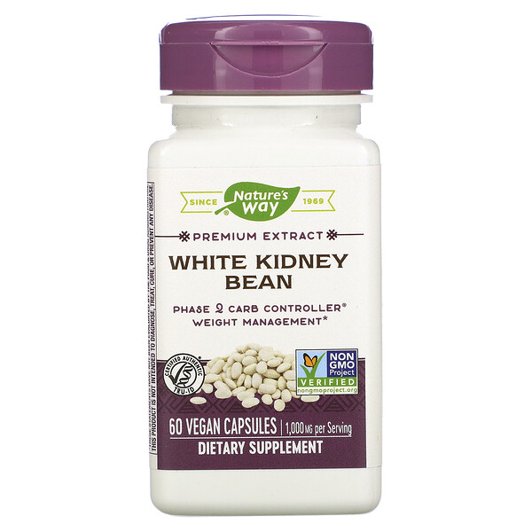 Nature's Way, White Kidney Bean , 60 Vegan Capsules