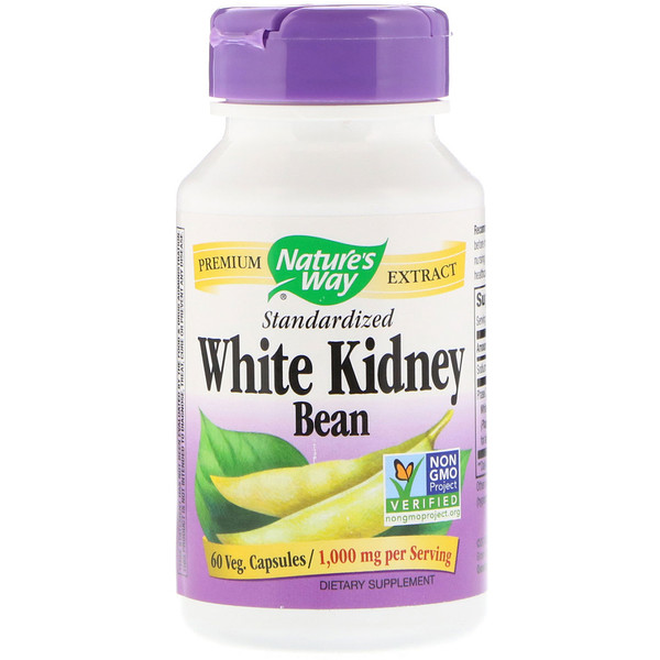 White Kidney Bean Standardized, 60 Veg. Capsules