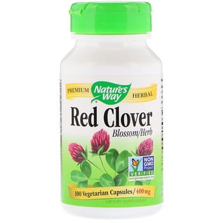 Nature's Way, Red Clover, Blossom/Herb, 400 mg, 100 Vegetarian Capsules
