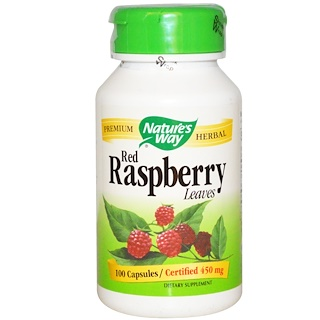 Nature's Way, Red Raspberry, Leaves, 450 mg, 100 Capsules