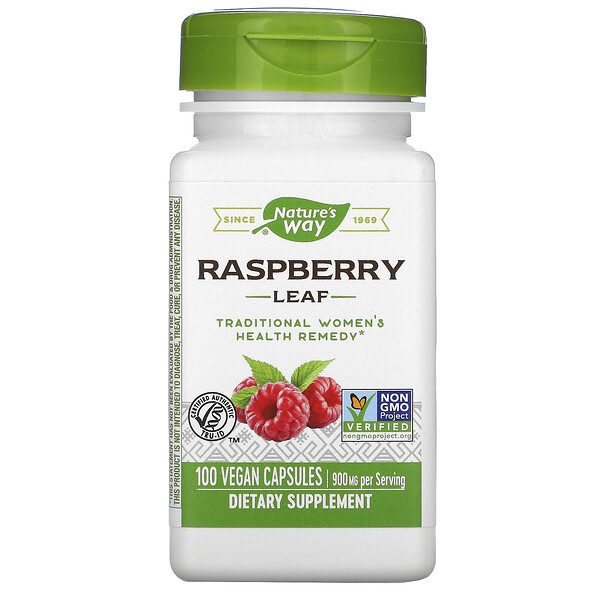 Nature's Way, Raspberry Leaf, 900 mg, 100 Vegan Capsules