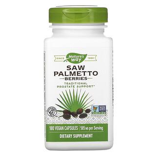 Nature's Way, Saw Palmetto Berries, 585 mg, 180 Vegan Capsules