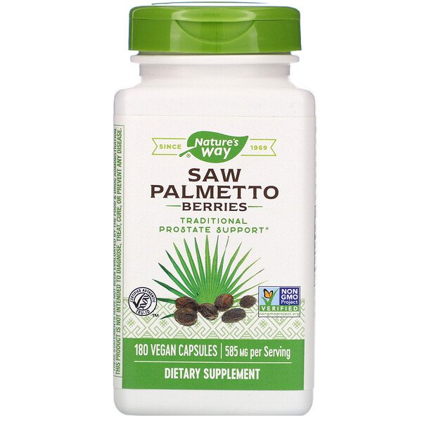 Saw Palmetto Berries, 585 mg, 180 Vegan Capsules