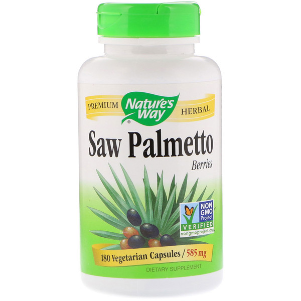 Nature's Way, Frutas de Palmeira Anã, 585 mg, 180 Capsulas Vegetarianas
