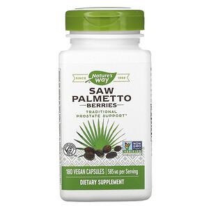 Натурес Вэй, Saw Palmetto Berries, 585 mg, 180 Vegan Capsules отзывы покупателей