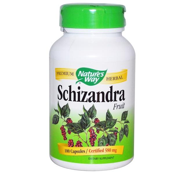 Nature's Way, Fruta Schizandra,80 mg, 100 cápsulas