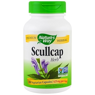 Nature's Way, Scullcap Herb, 425 mg, 100 Veggie Caps