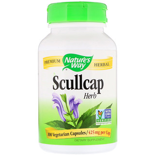 Nature's Way, Scullcap Herb, 425 mg, 100 كبسولة نباتية