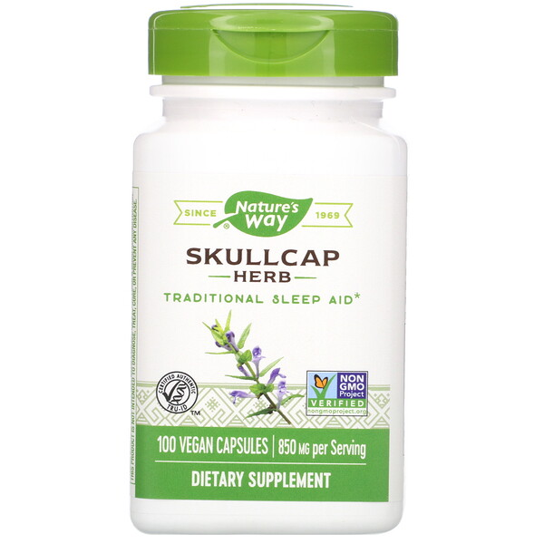 Nature's Way, Skullcap Herb, 850 mg, 100 Vegan Capsules