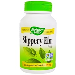 Nature's Way, Slippery Elm Bark, 400 mg, 100 Veggie Caps