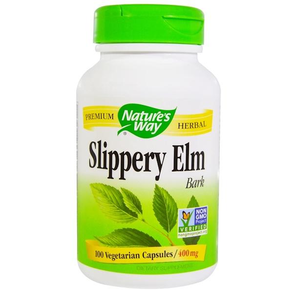 Nature's Way, Slippery Elm Bark, 400 mg, 100 Veggie Caps