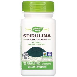 Nature's Way, Spirulina Micro-Algae, 380 mg, 100 Vegan Capsules