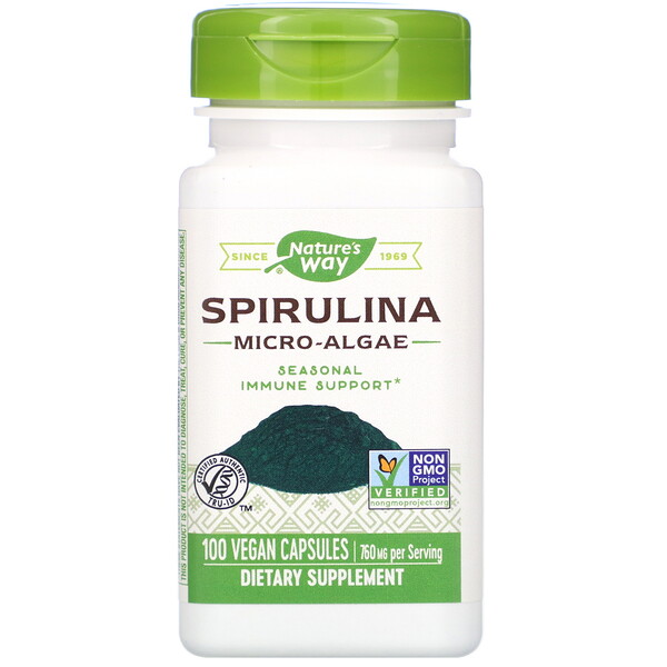 Nature's Way, Spirulina Micro-Algae, 760 mg, 100 Vegan Capsules