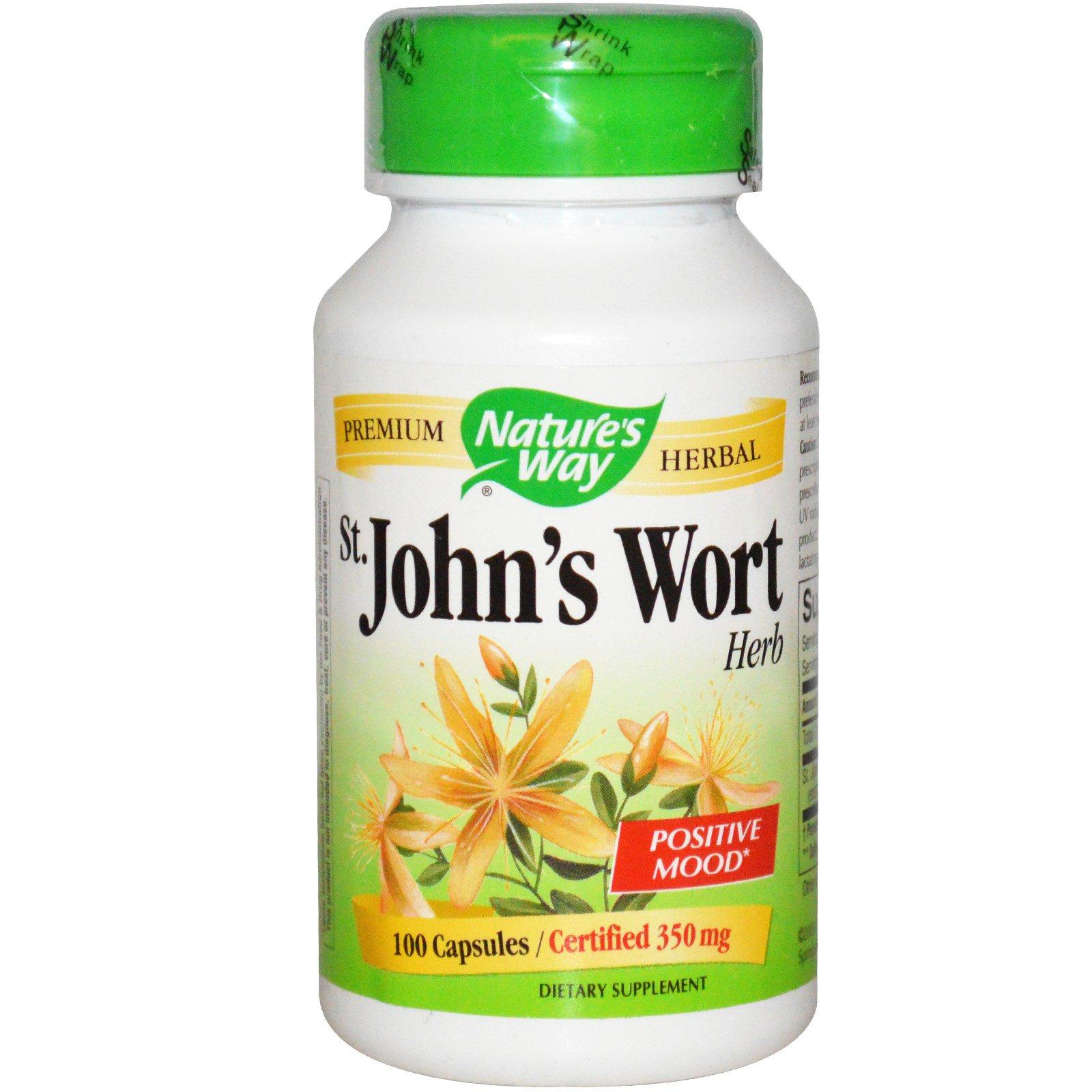 Nature's Way, Зверобой, лечебное растение, 350 мг, 100 капсул
