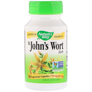 Nature's Way, St. John's Wort, Herb, 350 mg, 100 Vegetarian Capsules