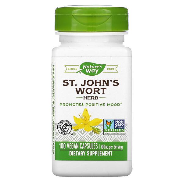St. John's Wort Herb, 700 mg, 100 Vegetarian Capsules