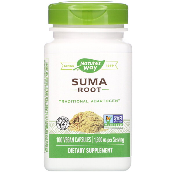 Nature's Way, Suma Root, 1,500 mg, 100 Vegan Capsules