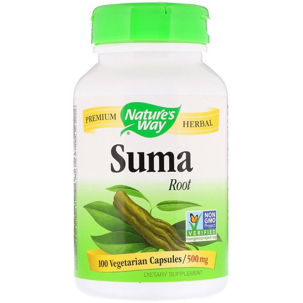 Nature's Way, Suma, Root, 500 mg, 100 Vegetarian Capsules