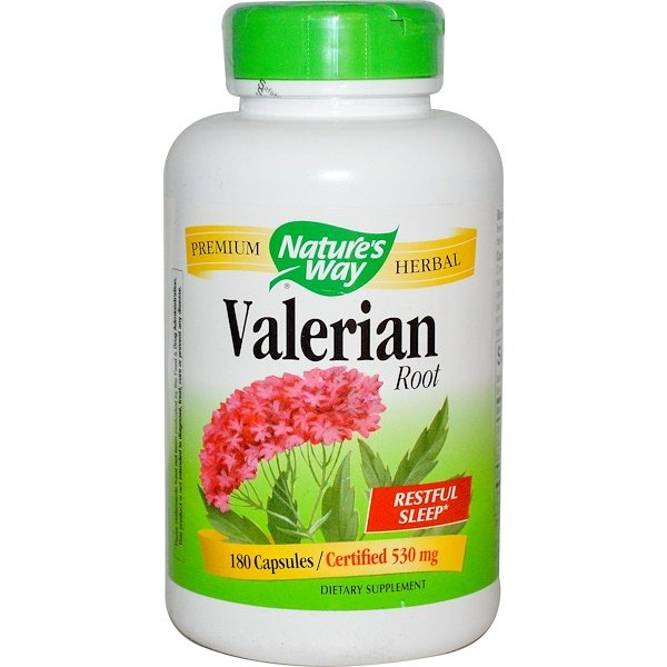 Nature's Way, Valerian Root, 530 mg, 180 Capsules