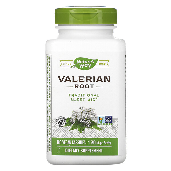 Nature's Way, Valerian Root, 1,590 mg, 180 Vegan Capsules