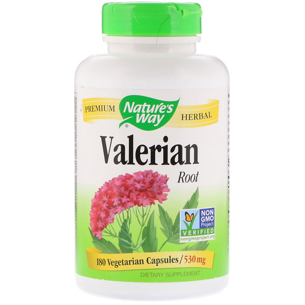 Nature's Way, Raíz de valeriana, 530 mg, 180 cápsulas