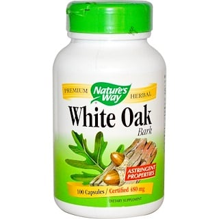 Nature's Way, White Oak Bark, 480 mg, 100 Capsules