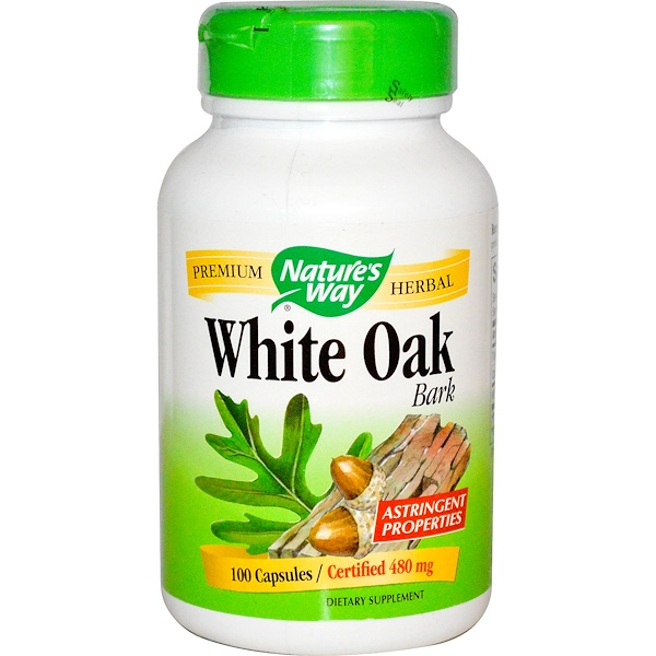 Nature's Way, White Oak Bark, 480 mg, 100 Capsules