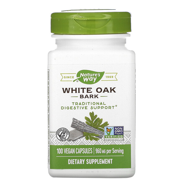 White Oak Bark, 960 mg, 100 Vegan Capsules