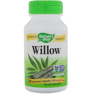 Nature's Way, Willow, 400 mg, 100 Vegetarian Capsules