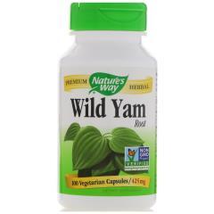 Nature's Way, Wild Yam, Root, 425 mg, 100 Vegetarian Capsules