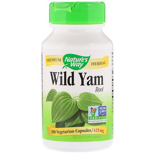 Nature's Way, Wild Yam, Raíz, 425 mg, 100 Cápsulas