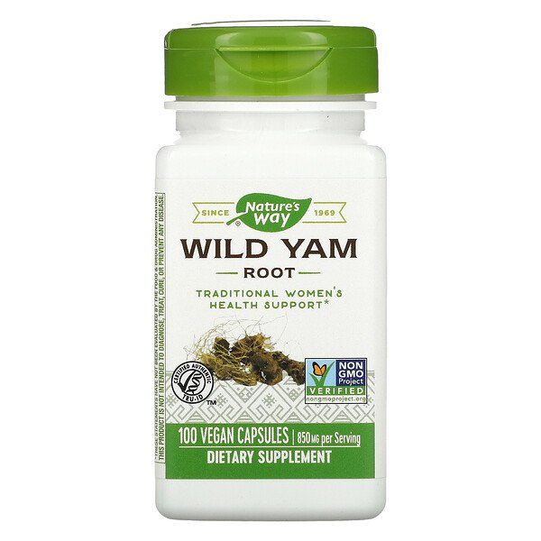 Nature's Way, Wild Yam Root, 850 mg, 100 Vegan Capsules