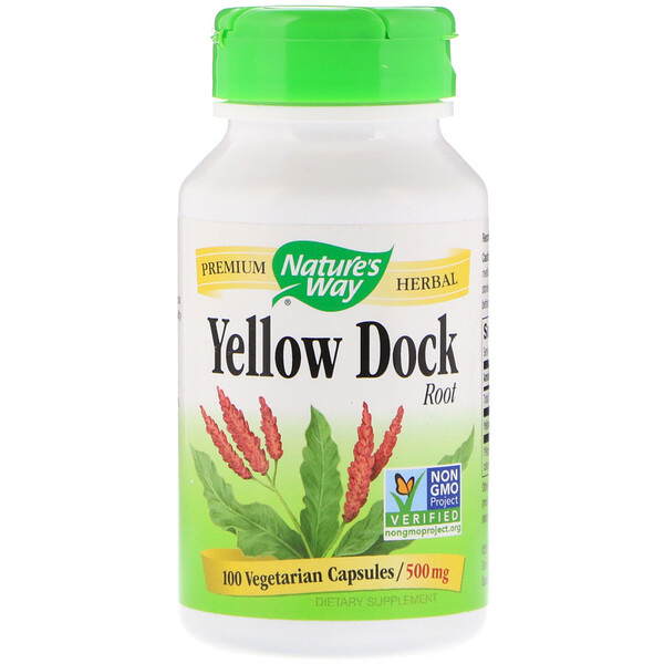 Nature's Way, Yellow Dock Root, 500 mg, 100 Vegetarian Capsules