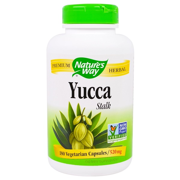 Nature's Way, Yucca Stalk, 520 mg, 180 Veggie Caps