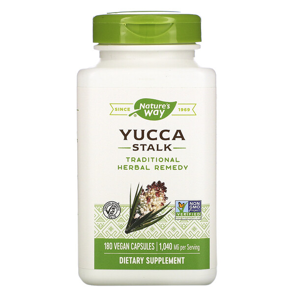 Nature's Way, Yucca Stalk, 1,040 mg, 180 Vegan Capsules (Discontinued Item)