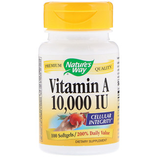 Nature's Way, Vitamin A, 10,000 IU, 100 Softgels
