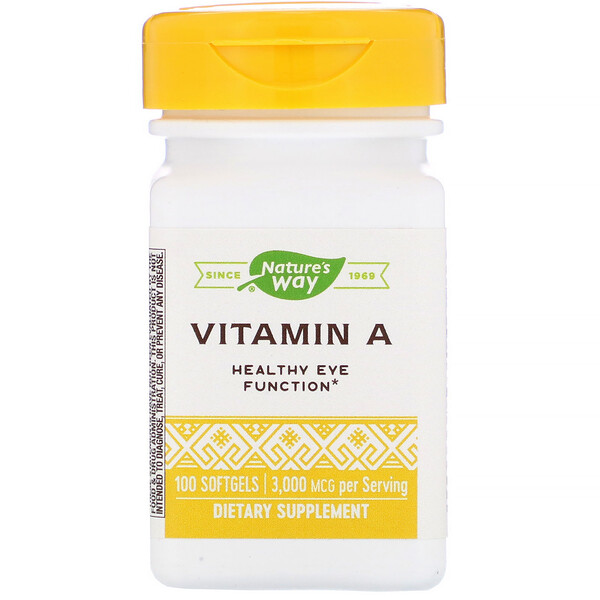 Vitamin A, 3,000 mcg, 100 Softgels