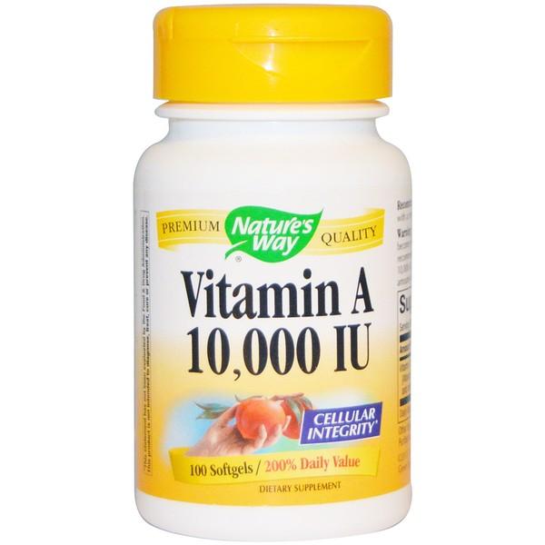 Nature's Way, ビタミンA, 10,000 IU, 100ソフトゼリー