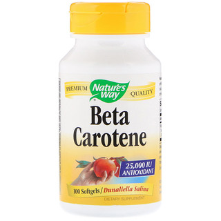 Nature's Way, Beta Carotene, 25,000 IU, 100 Softgels