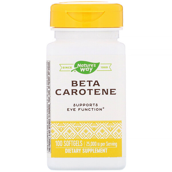 Beta Carotene, 25,000 IU, 100 Softgels
