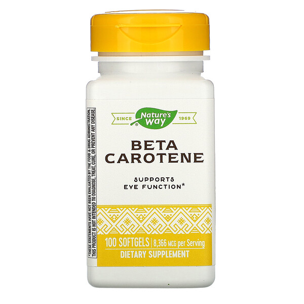 Nature's Way, Beta Carotene, 8,336 Mcg, 100 Softgels