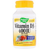 Nature's Way, Vitamin D3, Dry Form, 400 IU, 100 Capsules