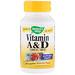 Витамин А и D, 15000 МЕ / 400 МЕ, 100 капсул - изображение