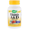 Nature's Way, Vitamin A and D, 15,000 IU / 400 IU, 100 Capsules