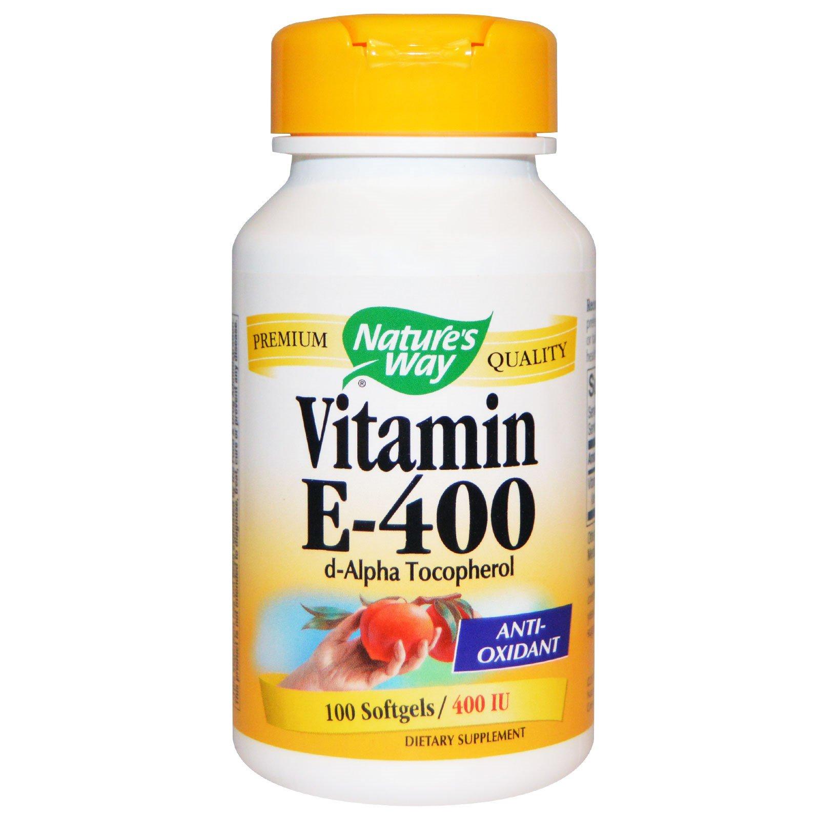 Nature's Way, Витамин E, 400 МЕ, 100 жидких гелевых капсул