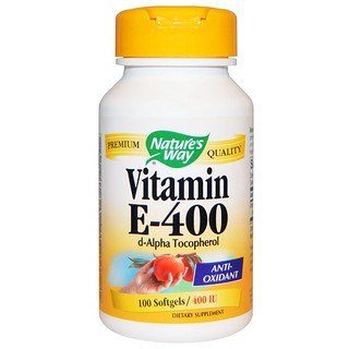 Nature's Way, Vitamina E, 400 UI, 100 cápsulas softgel