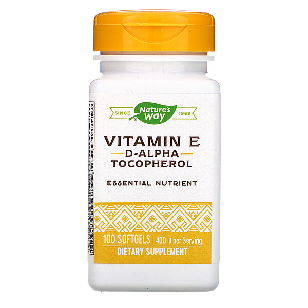 Nature's Way, Vitamin E, 400 IU, 100 Softgels